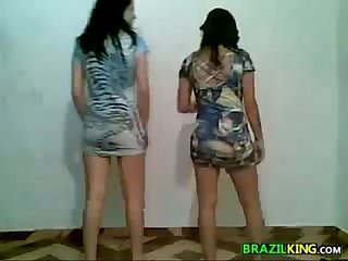 Cute Brazilian Girls Twerking At Home