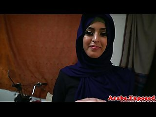 Busty arab amateur pounded roughly