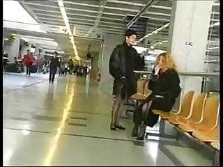 Public flashing in airport