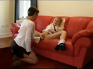 Mother and Daughter Watersports (pee/piss/fingering - full scene)