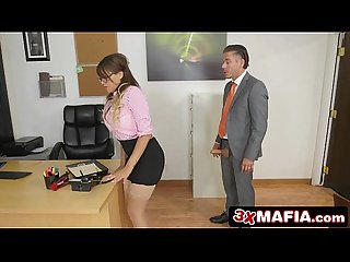 Bad black secretary cassidy banks turned on by her boss big dick