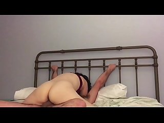 Chick Rides Cowgirl In Bed