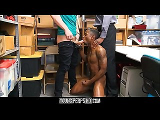 Two Straight Interracial Boys Fuck Each Other To Avoid Jail