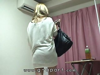 Voyeuring japanese teen Kotono's lingerie and naked.