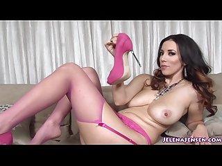 Jelena jensen masturbates with pink heels