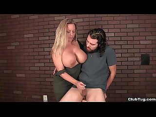 Clubtug busty milf handjob treatment