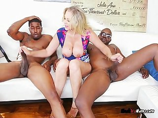 Blonde milf julia ann gets fucked by black guys