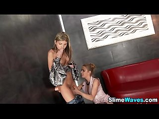 Glam babes ride gloryhole