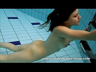 Brunette kristy stripping Underwater