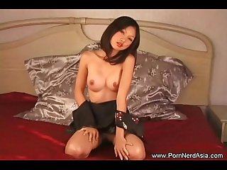 Amateur Asian Teen touches herself