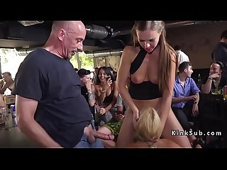 Hot ass blonde Milf got anal in public