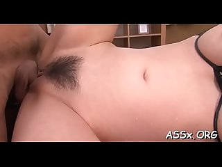 Sexy anal drilling for japanese chick during rough gangbang