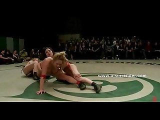 Lesbian sluts fight in dirty wrestling