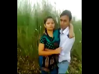Desi couple romance and kissing in fields outdoor