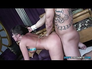 Bootylicious milf choking on hard cock