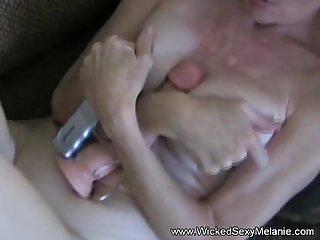 Vibrater pussy blowjob messy facial