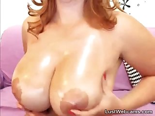 Big titted Milf teasing on webcam