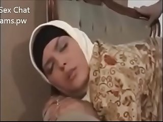 Beautiful Big Boobs girl in Hijab on Live Chatting front on webcam