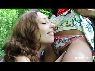 Outdoor Lesbian Sex Adventure