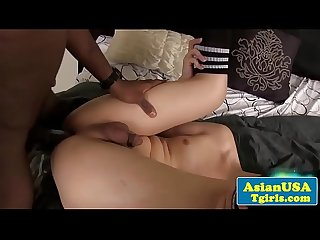 asian tgirl interracial anal