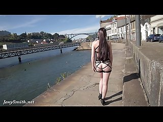 Jeny Smith - MyMokondo strap bondage in public