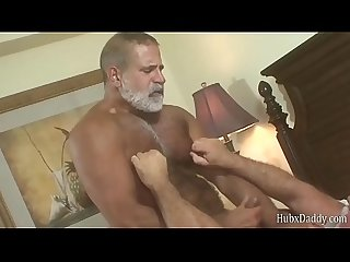 HubxDaddy Two white bearded daddy's love