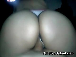Admire ass during amateur reverse cowgirl ride