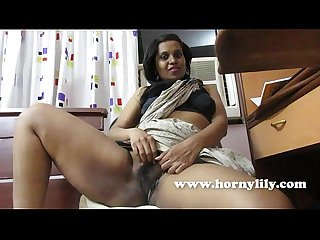 Horny indian lily teacher seducing her student