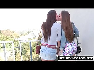 Cute lesbians (Karina White, Dani Daniels) get four fingers deep - Reality Kings
