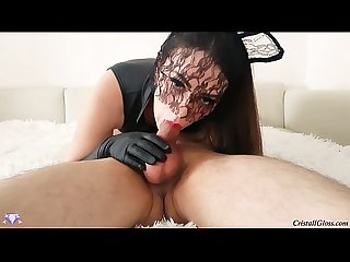 Sloppy Deep Throat Blowjob and Swallow Cum - Cristall Gloss