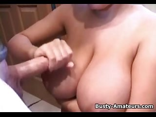 Busty amateur Brand handjob her boyfriend after shower