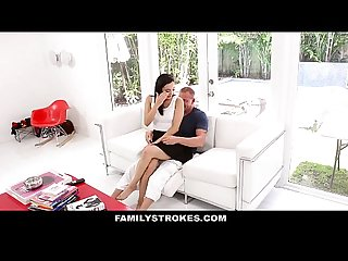 Familystrokes fathers day gift from cute horny step daughter