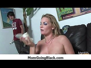 Amateur milf having interracial sex at home 6