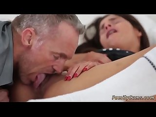 Brunette love sex first time he pulls away but its of no use