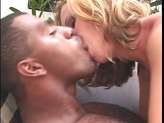 Blond chick anal black cock