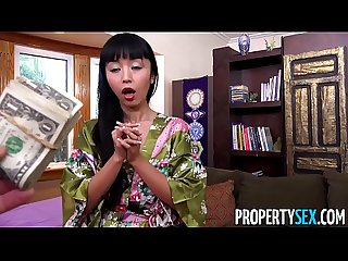 Propertysex hot japanese tenant fucks her landlord