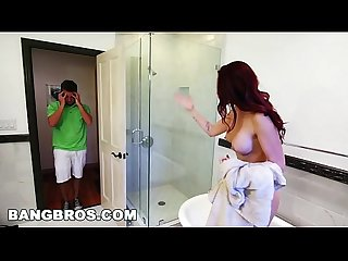 Bangbros bathtub threesome with karlee grey and stepmom Monique alexander