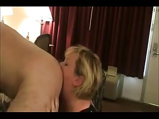 Naughty Mature Amateur Licks Ass and Eats Cum