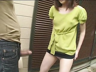 Japanese Babe s public Blowjob and pee