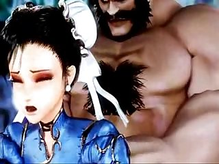 Chun Li winning assault Raw 3d