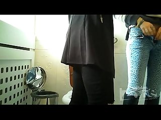Spy cam in womens toilet two beauties were standing up
