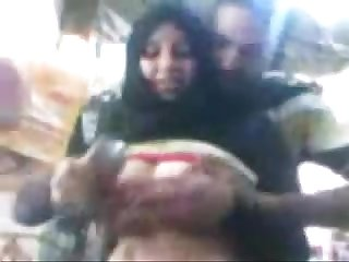 Arab egyptian hijab sharmota show her big tits in public www Arab videosx com