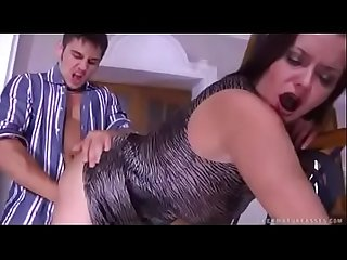 Horny son licks and abuses his mom in every possible way