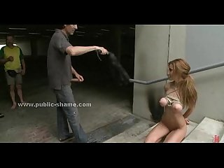 Slut disgraced in public rough sex