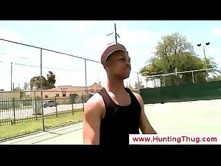 Gay hunts the streets for black schlong