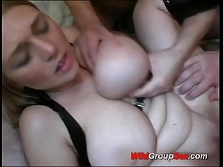 Busty german in wild anal gangbang