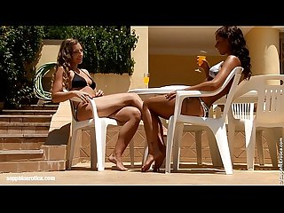 Sublime Sunbathers by Sapphic Erotica - sensual lesbian sex scene with Morgan an