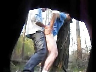 Truckers fucking in the woods caught on hidden cam hornycamguys period com