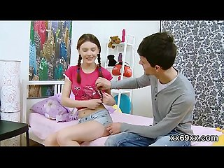 Bf assists with hymen checkup and riding of virgin nympho