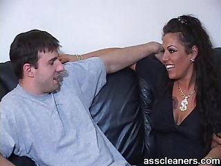 Willingly licking a horny mistress' ass hole